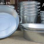 Galvanized Oval Wash Tub -  27L