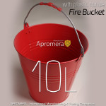 Metal Fire Bucket - 10Liters