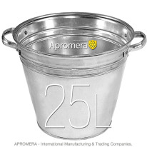 Galvanized Flower Bucket with handles – 25L