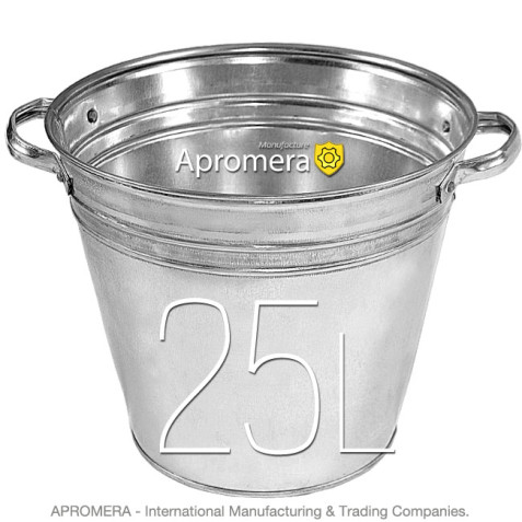 Galvanized Flower Bucket with handles - 25L