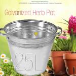 Galvanized Flower Bucket with handles - 25L
