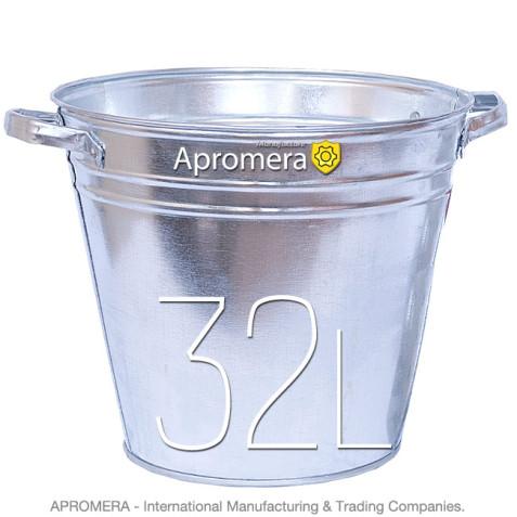 Galvanized Flower Bucket with handles – 32 Liters