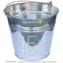 Galvanized buckets – 15 Liters