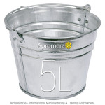 Galvanized buckets - 5 Liters