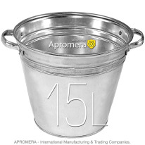 Galvanized Flower Bucket with handles – 15L