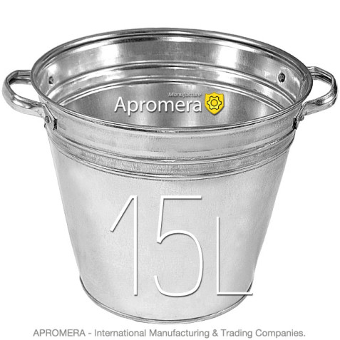 Galvanized Flower Bucket with handles - 15L