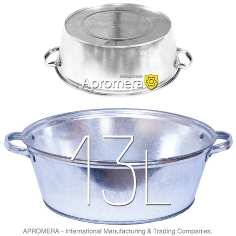 Galvanized Round Wash Tub -  13L