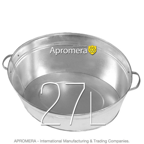 Galvanized Oval Wash Tub -  27L