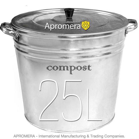Metal Compost Bucket 25 Liters