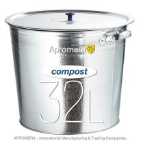 Metal Compost Bucket 32 Liters