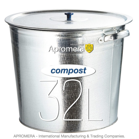 Metal Compost Bucket 32 Liters