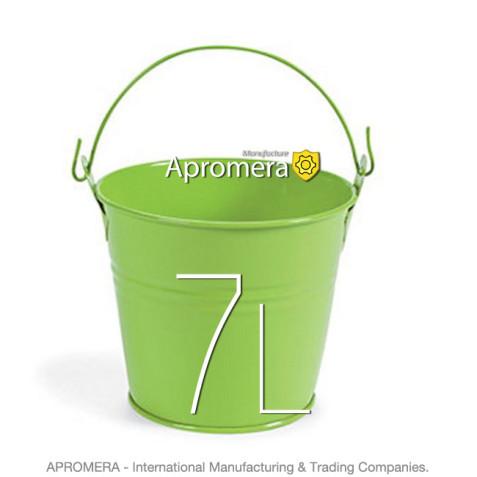Coloured Galvanised Bucket – 7 Liters