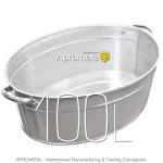 Galvanized Oval Bath - 100L
