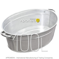 Galvanized Oval Bath – 100L