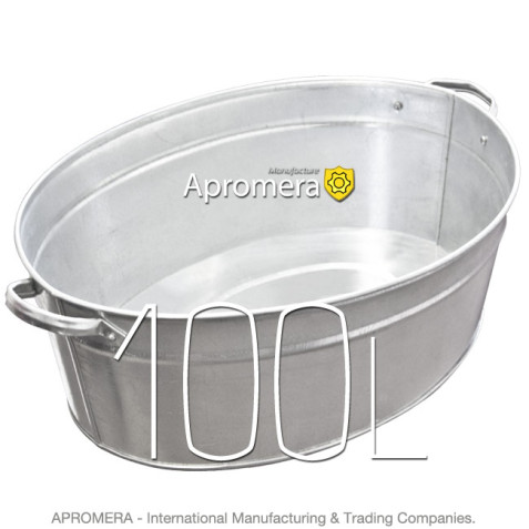Galvanized Oval Bath - 100L