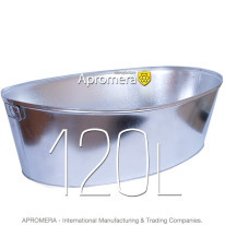 Galvanized Oval Bath – 120L