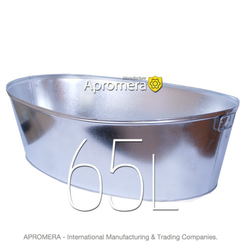 Galvanized Oval Tub - 65L