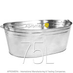 Galvanized Oval Bath - 75L