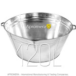 Galvanized Round Tub - 120 L
