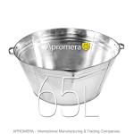 Galvanized Round Tub - 65 L