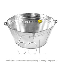 Galvanized Round Tub – 65 L