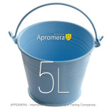 Coloured Metal Bucket - 5 Liters