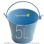 Coloured Metal Bucket - 5 Liters