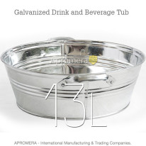 Galvanized Drink Tub – 13 Liters