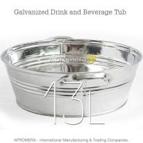 Galvanized Drink Tub – 13 Liters