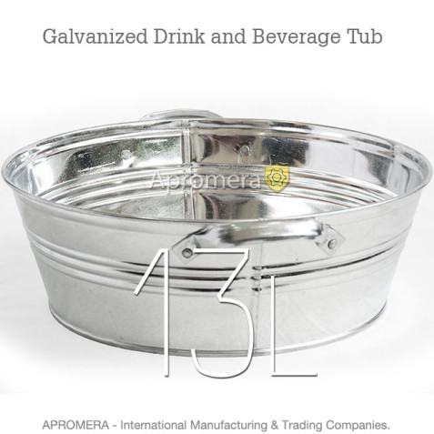 Galvanized Drink Tub - 13 Liters
