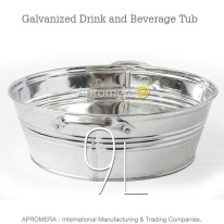 Galvanized Beverage Tub – 9 Liters