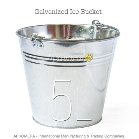 Galvanized Ice Bucket - 5 Liters