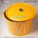 Coloured Compost Bucket with lid