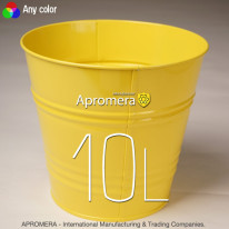 Coloured Metal Flower Pot – 10L (yellow color)