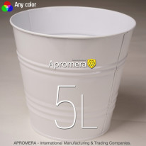 Metal Flower Pot – 5L (White color)