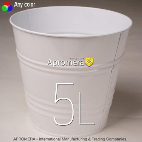 Metal Flower Pot - 5L (White color)