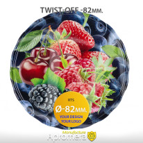 Metal Twist-Off Jar Lid – 82mm (Mixed Berries) for canning