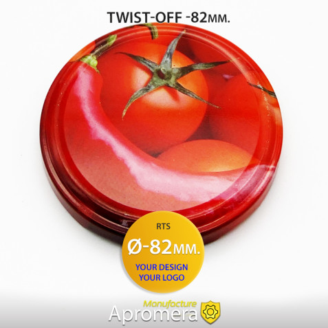 Metal Twist-Off Jar Lid - 82mm (Mixed Vegetables) for canning