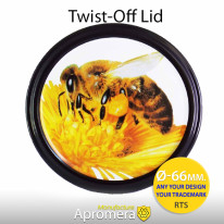 Twist-Off Lid (Honey Jar Screw Top Caps) – 66mm