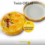 Twist-Off Lid (Honey Jar Screw Top Caps) – 66mm