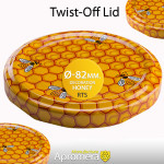 Twist-Off Lid (Honey Jar Screw Top Caps) – 82mm