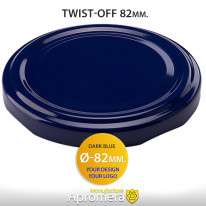 Metal Twist-Off Jar Lid – 82mm (DARK BLUE color) Plastisol Lined Caps