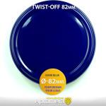 Metal Twist-Off Jar Lid - 82mm (DARK BLUE color) Plastisol Lined Caps
