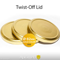 Twist-Off Jar Lid – 82mm (GOLD color) for canning RTO, RTB, RTS, RSB