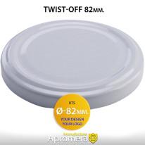 Metal Twist-Off Jar Lid – 82mm (WHITE color) Plastisol Lined Caps