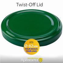 Metal Twist-Off Jar Lid – 82mm (GREEN color) for canning