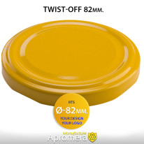 Metal Twist-Off Jar Lid – 82mm (YELLOW color)  for canning
